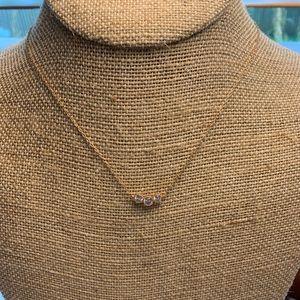 Rose Gold Trio Necklace
